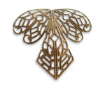 Vintaj Natural Brass Orchid Filigree 38x35mm