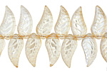Antique Crystal Leaf Drop 8x18mm