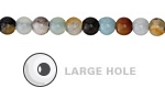 Black Gold Amazonite Round (Large Hole) 6mm