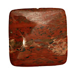 Brecciated Jasper Puff Square 40mm