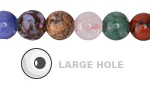 Multi Gemstone (Sodalite, Tiger Eye, Red Jasper, Aventurine) Round (Large Hole) 10mm