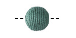Peacock Green Thread Wrapped Bead 14mm
