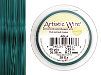 Artistic Wire Aqua 28 gauge, 40 yards