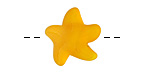 Saffron Yellow Recycled Glass Starfish 21mm