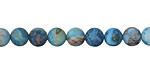 Larimar Blue Crazy Lace Agate (matte) Round 6mm