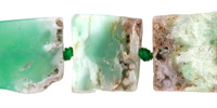 Chrysoprase Natural Cut Square Slab 14-18x14-18mm