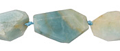 Black Gold Amazonite Faceted Flat Nugget 25-30x17-22mm