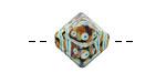 A Beaded Gift Copper Raku Tribe Glass Crystal 15mm