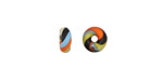 Unicorne Beads Fire & Ice Donut 10mm