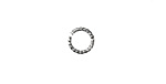 Silver (plated) Twisted Jump Ring 8mm