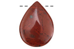 Apple Jasper Teardrop Pendant 22x30mm