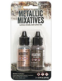 Adirondack Metallic Rose Gold & Gunmetal Mixative Kit