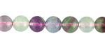 Rainbow Fluorite Round 8mm