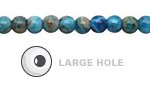 Larimar Blue Crazy Lace Agate Round (Large Hole) 6mm