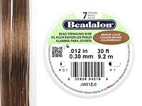 "Beadalon Bronze .012"" 7 Strand Wire 30ft."