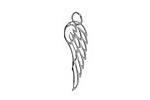 Nina Designs Sterling Silver Small Cut-out Angel Wing Charm 8x27mm
