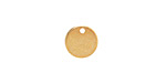 Gold (plated) Stainless Steel Circle Charm 10mm