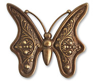Vintaj Natural Brass Baroque Butterfly 55mm
