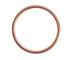 Nunn Design Antique Copper (plated) Open Frame Large Hoop 35mm