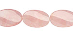 Rose Quartz Twisted Oval 20x13mm
