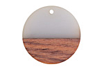 Wood & Mist Resin Coin Focal 28mm