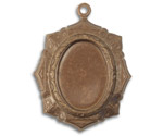 Vintaj Natural Brass Victoriana Bezel 26x34mm