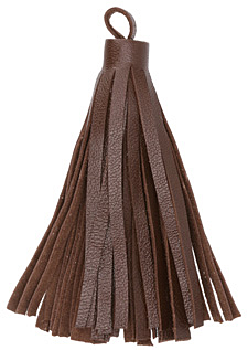 Red Brown Large Nappa Leather Tassel