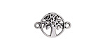 Antique Silver Finish Openwork Tree Focal Link 18x12mm