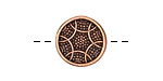 Antique Copper (plated) Crocheted Button 16mm