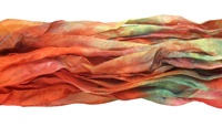 "Chili Peppers Hand Dyed 100% Habotai Silk Ribbon 1/2""-1"""