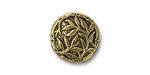 TierraCast Antique Gold (plated) Bamboo Button 16mm