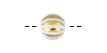 Metallic Gold Laser Etched Stripes on Crystal Round 10mm