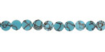 Howlite Turquoise Puff Coin 5mm