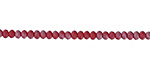 Matte Apple Red AB Crystal Faceted Rondelle 3mm