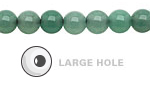Green Aventurine Round (Large Hole) 8mm