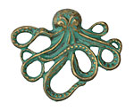 Zola Elements Patina Green Brass Octopus Link 42.5x35mm