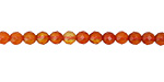 Carnelian (multi orange) Faceted Round 4mm