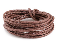 Coffee Braided Cotton Bolo Cord 3mm