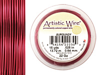 Artistic Wire Burgundy 22 gauge, 15 yards