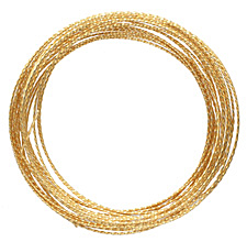 Parawire Non-Tarnish Gold Twisted 21 Gauge, 15 Feet