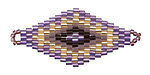 Lavender Hand Woven Diamond 43x20mm