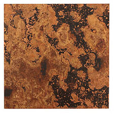 "Lillypilly Mottled Patina Copper Sheet 3""x3"", 24 gauge"