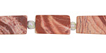 Red Bend Jasper (matte) Brick 15-16x8mm