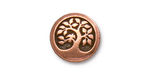 TierraCast Antique Copper (plated) Bird In A Tree Button 16mm