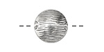 Zola Elements Antique Silver (plated) Wood Grain Puff Coin 16mm