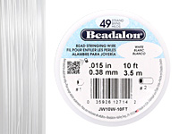 "Beadalon White .015"" 49 Strand Wire 10ft."