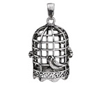 Antique Silver Finish Birdcage Diffuser Locket 24x42mm