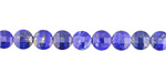 Lapis (A) Faceted Puff Coin 6mm