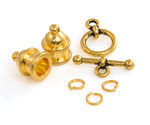 TierraCast Gold (plated) Pagoda 6mm Cord End Set