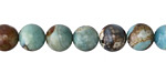 Aqua Terra Agate (dark) Round 8-9mm
